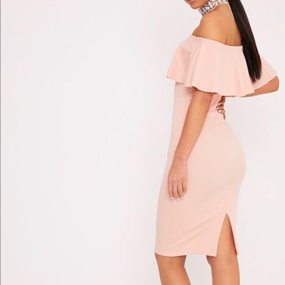 24b479d637fd PrettyLittleThing Blush Bardot Dress. M_5ae6011736b9dedf264c198c